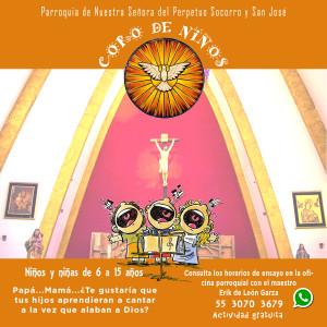 Invitación al coro de niños de la Parroquia del Perpetuo Socorro y San José